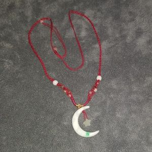 Jewelry - Crafty jade moon and star necklace